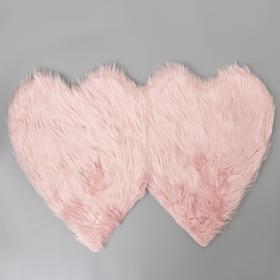 Коврик Доляна «Сердца», 60×90 см, цвет розовый