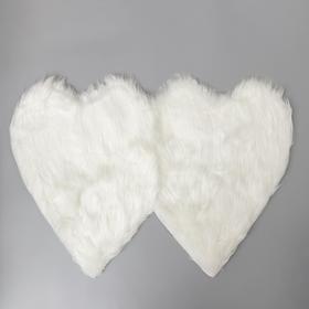 Коврик Доляна «Сердца», 60×90 см, цвет белый