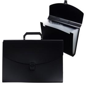 Папка-портфель А4, 13 отделений, 700 мкм, Calligrata, до 300 листов, чёрная