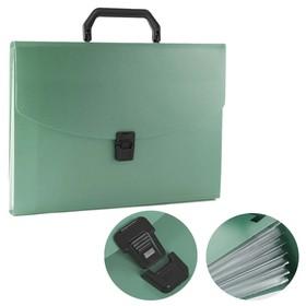 Папка-портфель А4, 13 отделений, 700 мкм, Calligrata, до 300 листов, зелёная