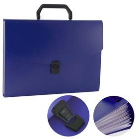 Папка-портфель А4, 13 отделений, 700 мкм, Calligrata, до 300 листов, синяя