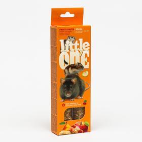 Палочки Little One с фруктами и орехами для хомяков, крыс, мышей и песчанок, 2 х 60 г
