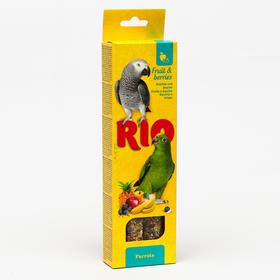 Палочки RIO для попугаев с фруктами и ягодами, 2 х 90 г