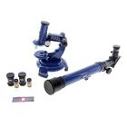 Набор обучающий: телескоп настольный сувенирный 20х-30х-40х съемные линзы, микроскоп сувенирный