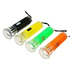 Handheld flashlight, 1 LED, lens, round batteries included, mix, 10.5x3.5 cm