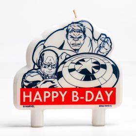 """Свеча в торт """"Happy B-day"""", Мстители"""