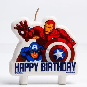 """Свеча в торт """"Happy Birthday"""", Мстители"""