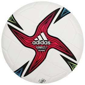 Мяч футбольный ADIDAS Conext 21 Training, размер 4, 8 панелей, гл.ТПУ, машинная сшивка, цвет белый/мультикол