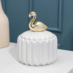 Банка для сыпучик продуктов Доляна «Золотое крыло. Фламинго», 12×15 см