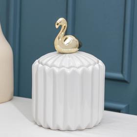 Банка для сыпучик продуктов Доляна «Золотое крыло. Фламинго», 12×18 см