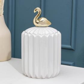 Банка для сыпучик продуктов Доляна «Золотое крыло. Фламинго», 12×21 см