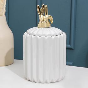 Банка для сыпучик продуктов Доляна «Золотой зайка», 12×21 см