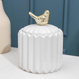 Банка для сыпучик продуктов Доляна «Золотое крыло», 12×18 см