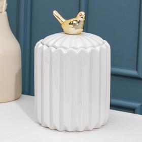 Банка для сыпучик продуктов Доляна «Золотое крыло», 12×21 см
