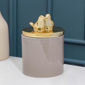 Банка для сыпучик продуктов Доляна «Золотое крыло», 11×16 см