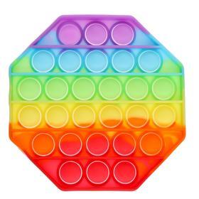 Антистресс игрушка «Вечная пупырка», восьмиугольник, радуга