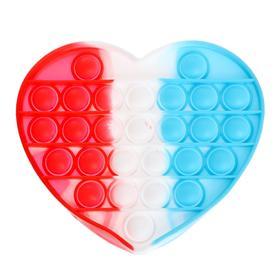 Антистресс игрушка «Вечная пупырка», сердце, трехцветное, МИКС