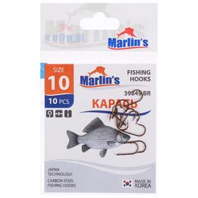 Крючок Marlin's «Карась» 39849 BR, №10, 10 шт.