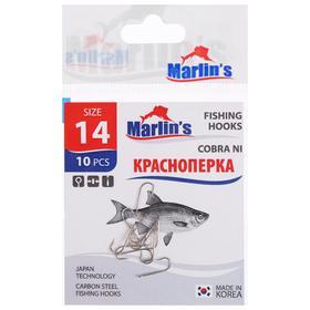 Крючок Marlin's «Краснопёрка» Cobra NI, №14, 10 шт.