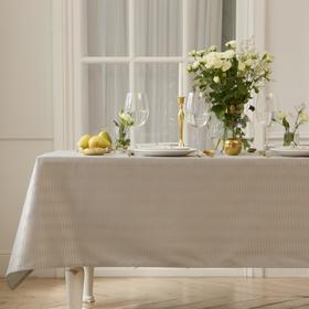 Скатерть Этель Shine 150*110 +/-3см, цв.серый, пл. 192 г/м2, хл с ВГМО