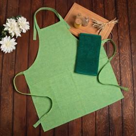 Подарочный набор Этель «Эдит» фартук 70х60 см, полулён, полотенце 30х60 см, 100% хл