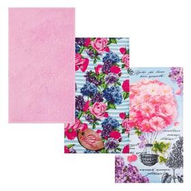 Подарочный набор Этель «Весна» полотенце 35х60 2 шт, полотенце 30х60 см, 100% хл