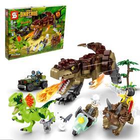 Конструктор Мир динозавров «Сражение с тиранозавром», 988 деталей