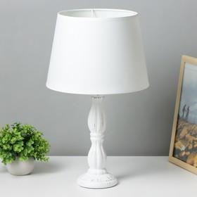 Лампа настольная 16628/1WT E27 40Вт белый 25х25х48 см