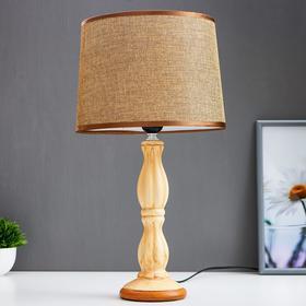 Лампа настольная 16628/1BE E27 40Вт бежевый 25х25х48 см