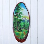 """Картина """"Лето"""" на срезе дерева, каменная крошка"""