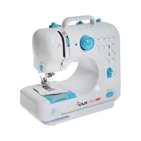Швейная машина VLK Napoli 2350, 6 Вт, 12 операций, полуавтомат, бело-голубая