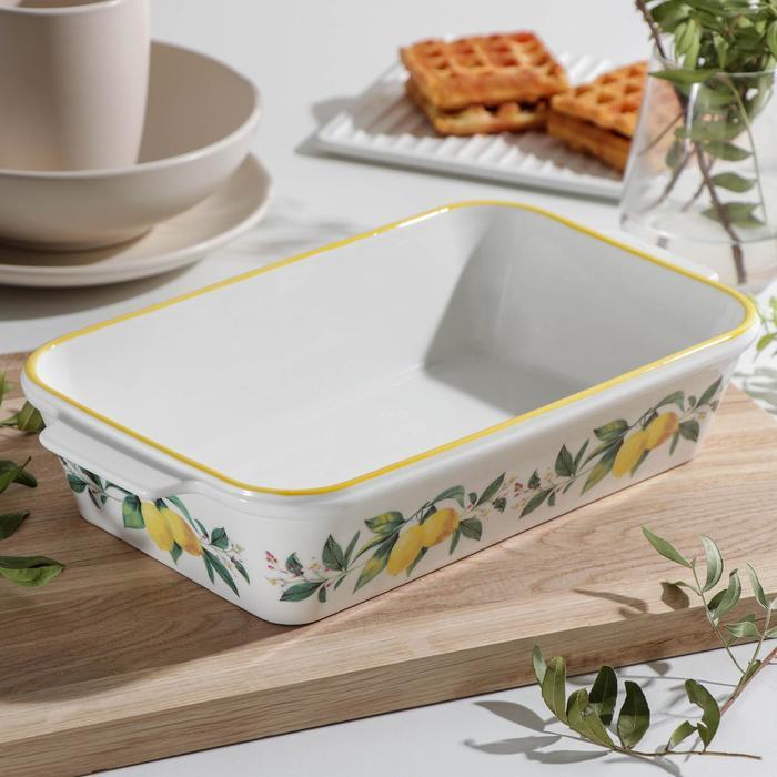Форма для выпечки прямоугольная Доляна «Лимон», 30,5×17 см