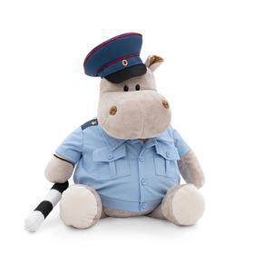 Мягкая игрушка «Бегемот полицейский», 30 см