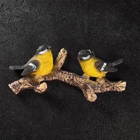 """Подвесной декор """"Веточка с двумя птичками"""" цветная"""
