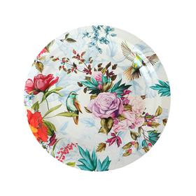 Тарелка бумажная «Птицы и цветы», 18 см, 6 шт.