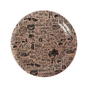 Тарелка бумажная «Крафт», 18 см, 6 шт.
