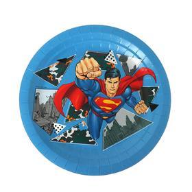 Тарелка бумажная Superman, 18 см, 6 шт.