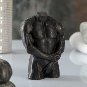 """Фигурное мыло """"Мужской торс №2"""" черное, 135гр"""