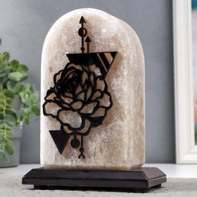"Соляной светильник ""Роза"" E14 15Вт диммер бел. соль 1,8-2.5 кг 11х8х18 см  11х8х18 см"