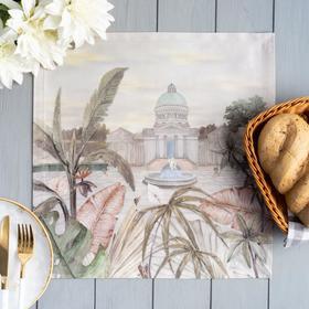 Салфетка  Этель «Райский сад», вид 1, 40*40 +/-3 см, 100% хл, саржа 190 гр/м2