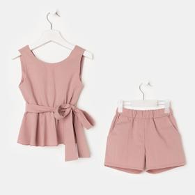 Комплект для девочки (майка и шорты) KAFTAN, р.30 (98-104), розовый