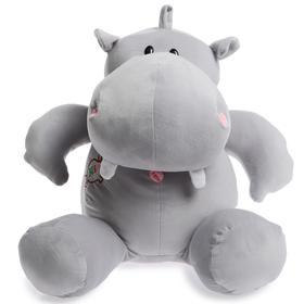 Мягкая игрушка «Бегемот Симон», цвет серый, 60 см