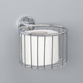 Держатель для туалетной бумаги, 14×16×13 см, цвет хром