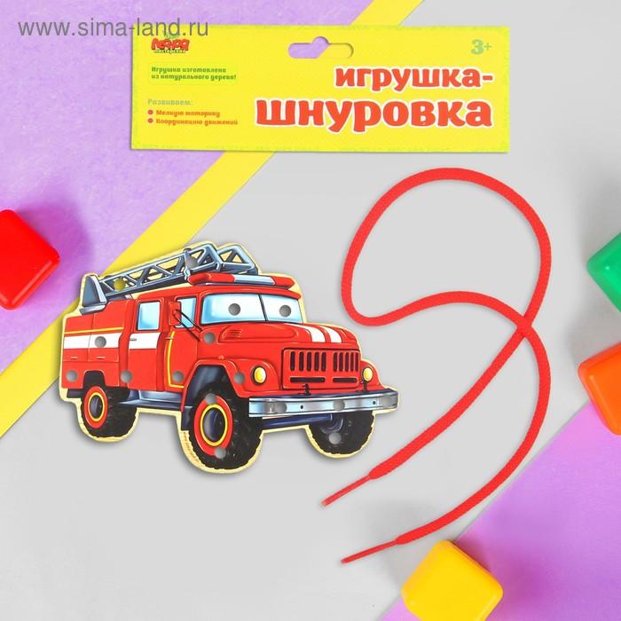 """Шнуровка фигурная """"Пожарный автомобиль"""""""
