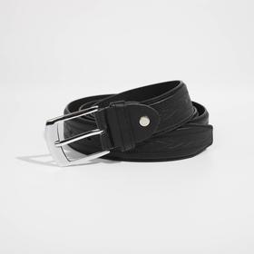 Ремень, ширина 2,8 см, винт, пряжка металл, цвет чёрный