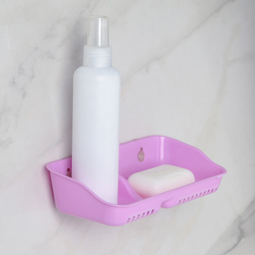 Полка для ванной с мыльницей «Алфавит», 20×9,5×4 см, цвет МИКС Ош