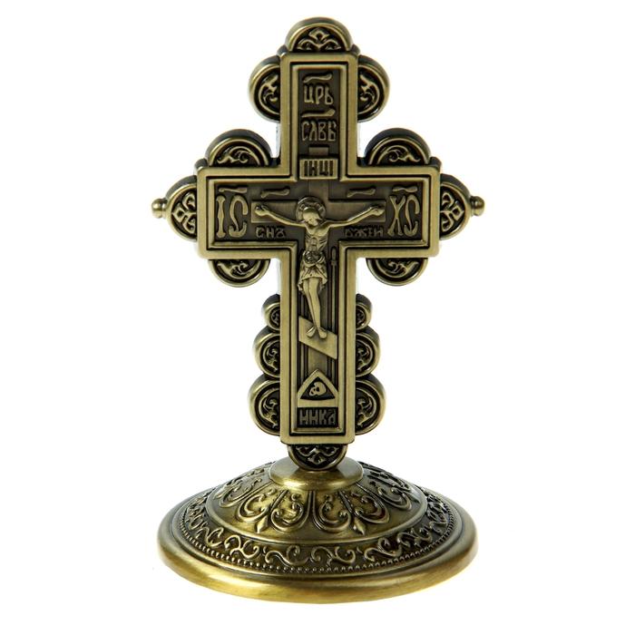 """Крест на подставке """"Иерусалим"""", бронзовый цвет"""