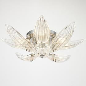 Люстра 86307/8 E14 40Вт хром-прозрачный 63х63х20 см