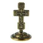 """Крест на подставке """"Русь"""", бронзовый цвет"""