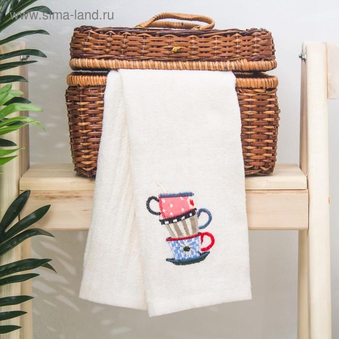 """Полотенце кухонное 36х64 см """"Сервиз"""" 100% хлопок, велюровое полотно"""